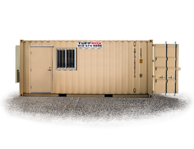 20-foot storage and office combo container