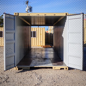 double opening doors on a shipping container