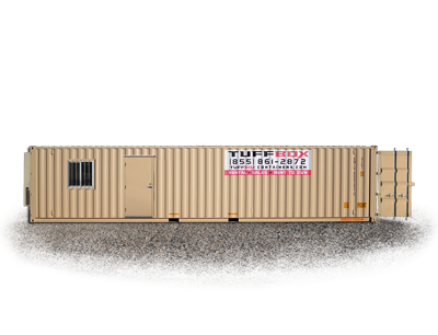 40-foot storage and office container combination
