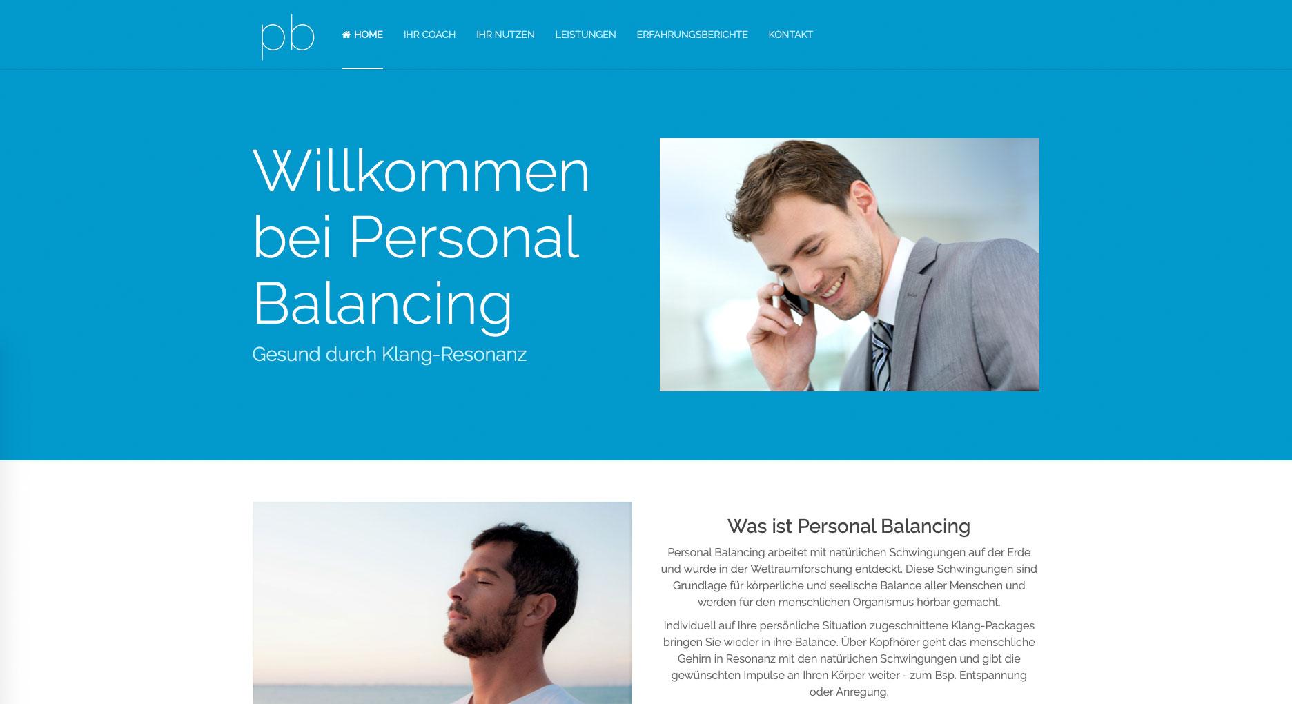 Personal Balancing Website