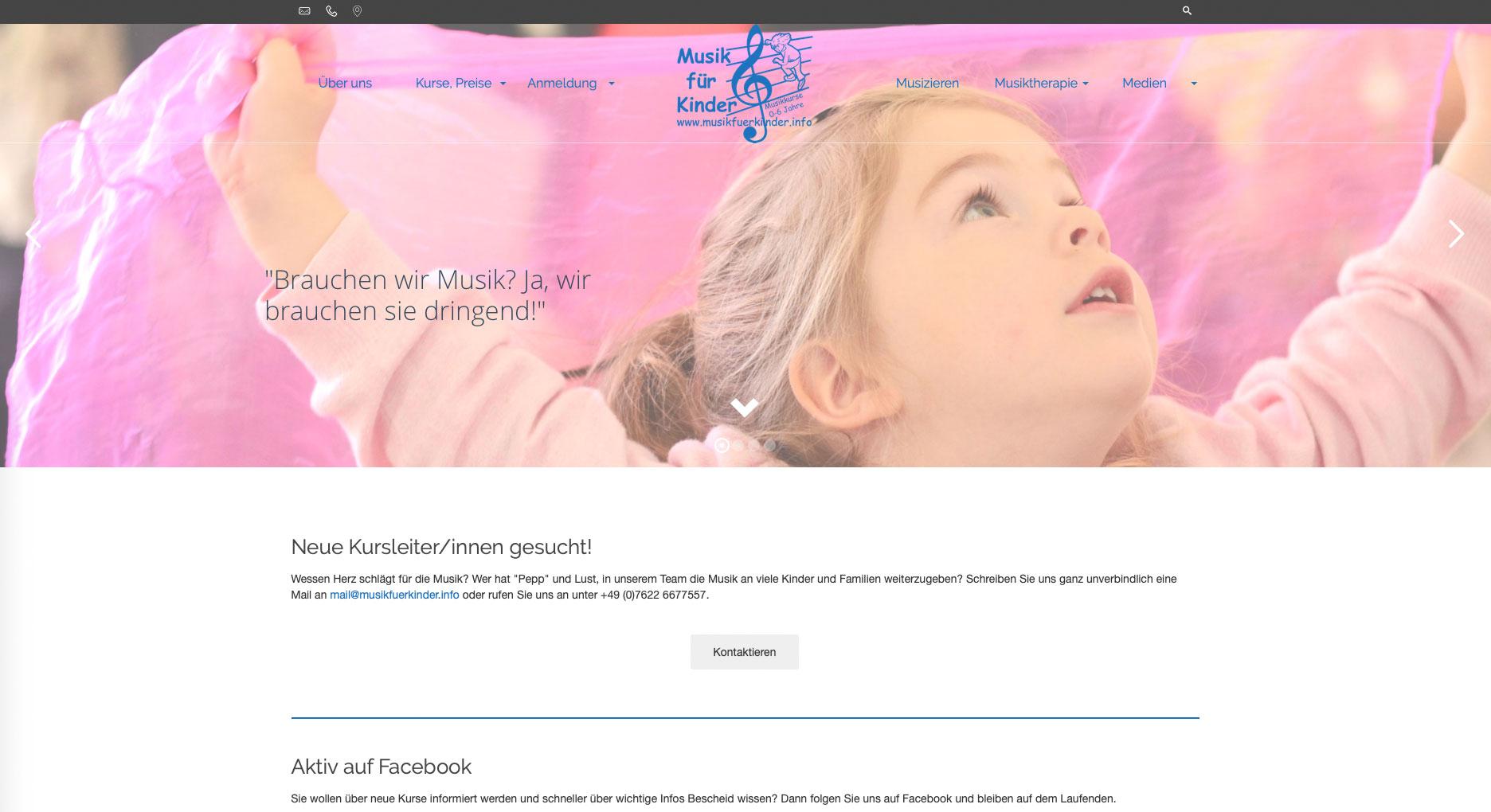 Musik für Kinder Website