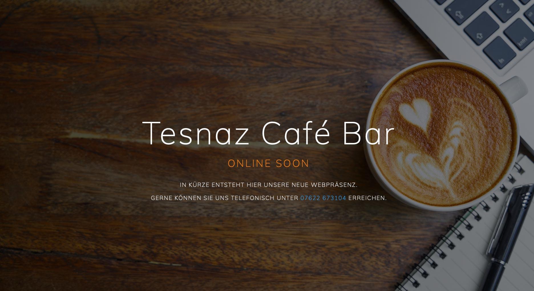 Tesnaz Café Bar Website