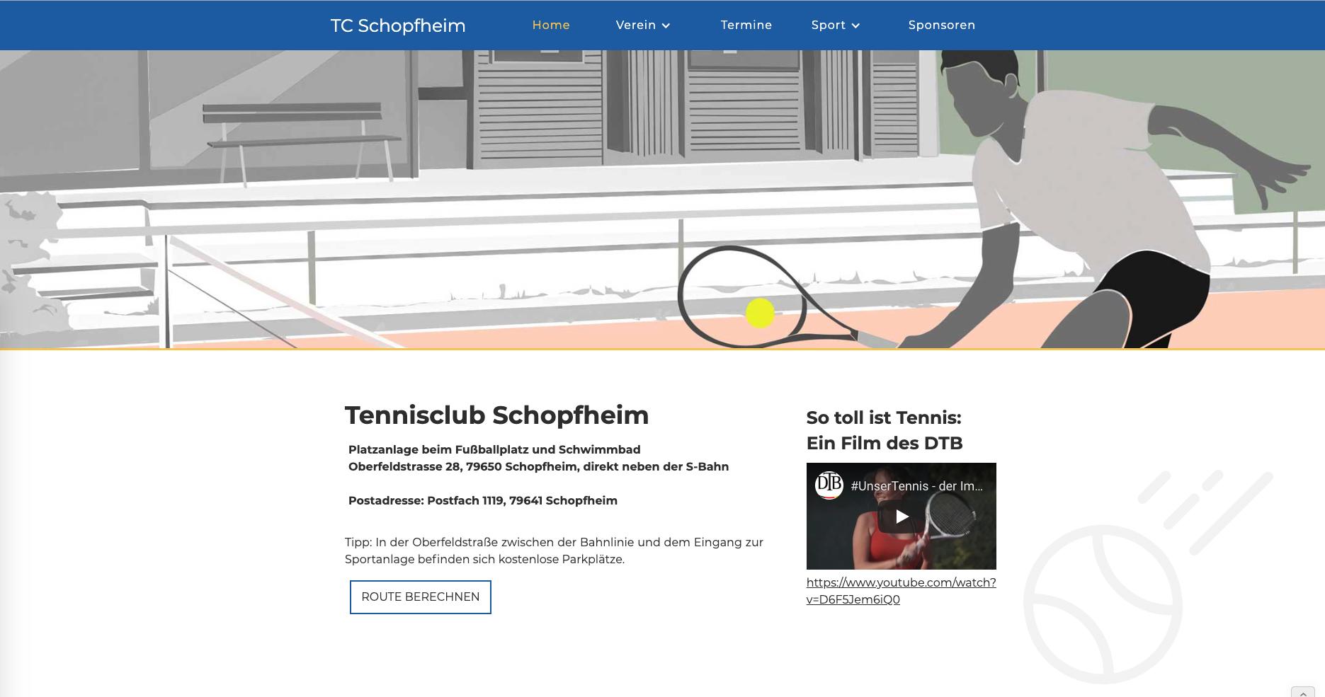 TC Schopfheim Website