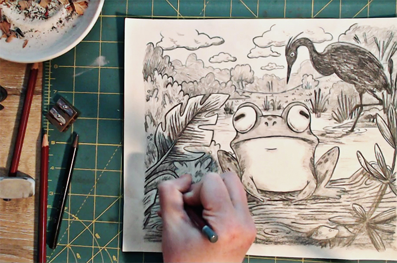 Children's book illustration process blog post Champaign Illinois midwest