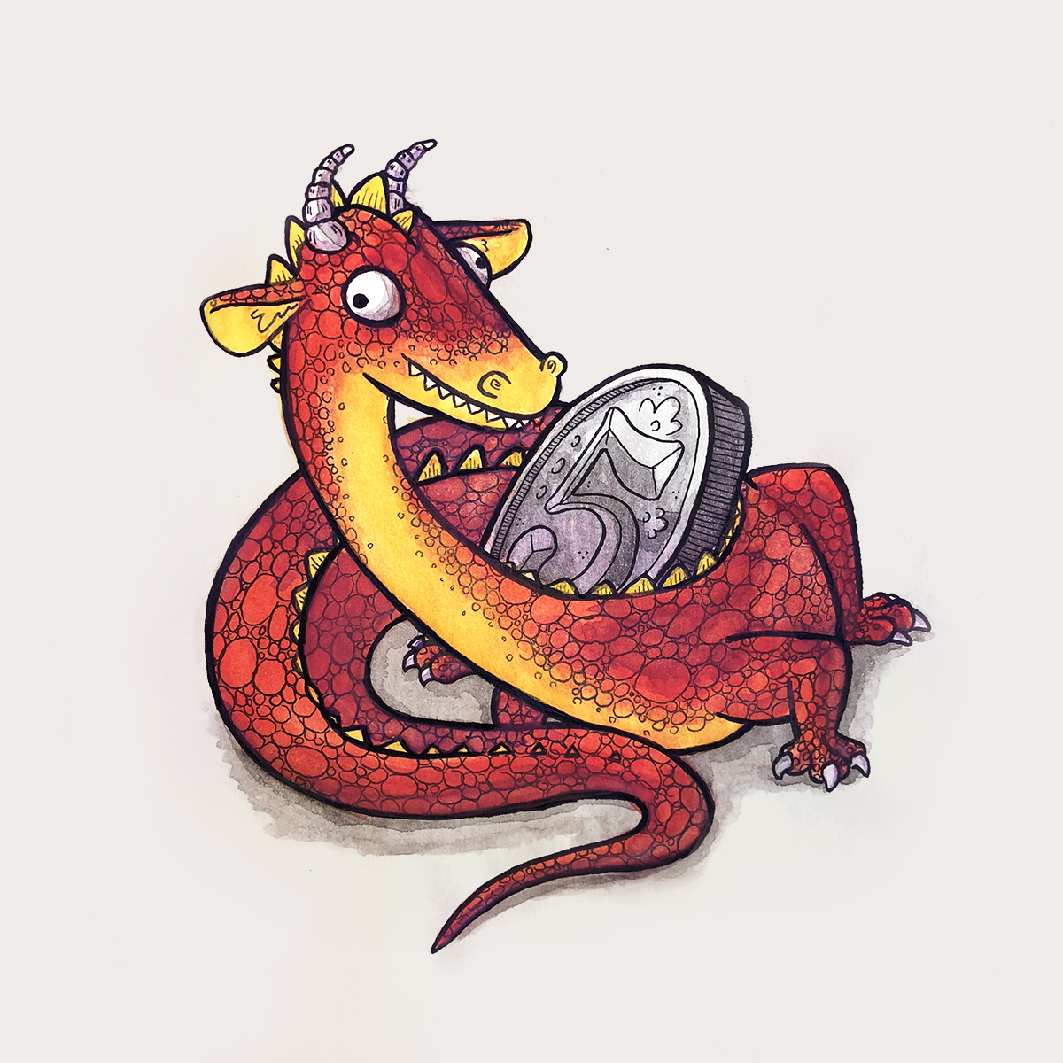 dragon with nickle