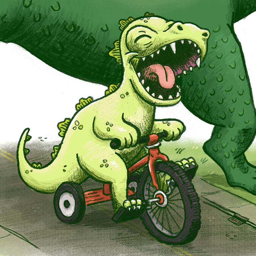 godzilla baby monster whymsical funny children's book illustration champaign Illinois midwest
