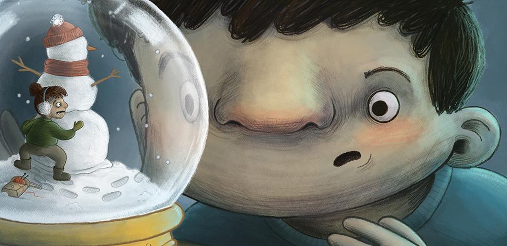 be winter children's illustration kids picture book art champaign illiniois usa english