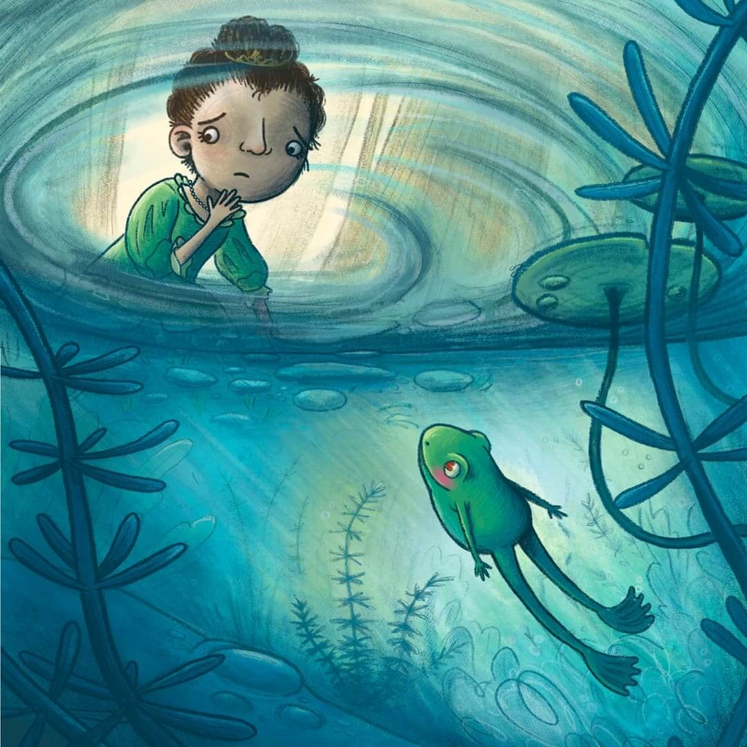 fairytale the frog prince princess book cover children's book illustration champaign Illinois midwest