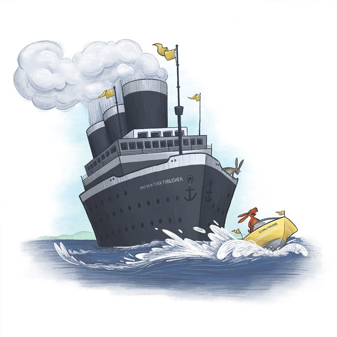 boat podcast art children's book illustration champaign Illinois midwest