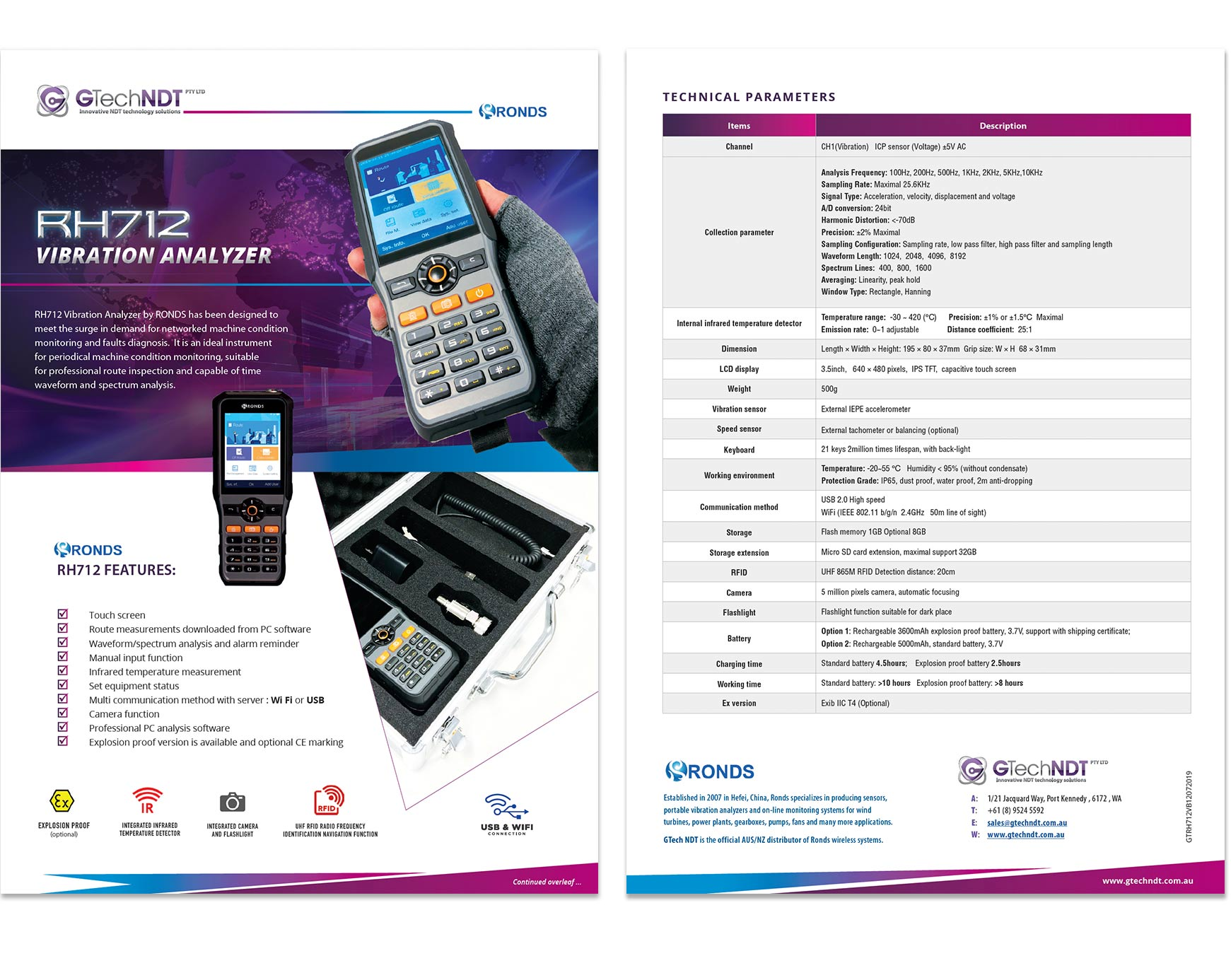 Product Technical Specification & Data Sheet Graphic Design Perth WA
