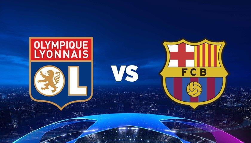 Афиша матча Лиги Чемпионов Барселона - Лион