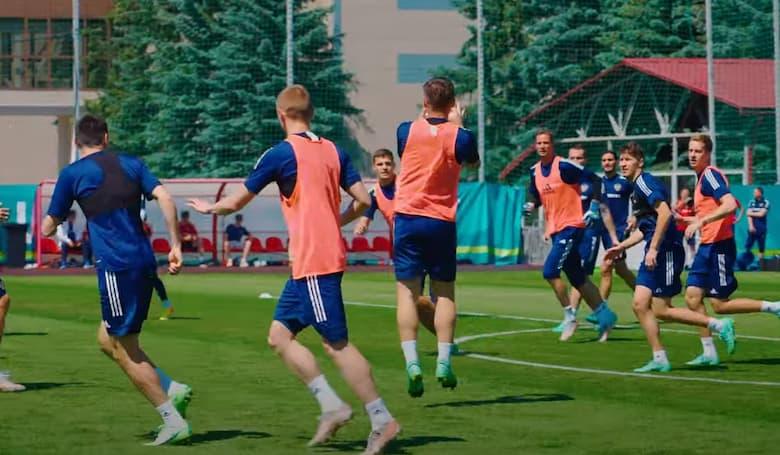 тренировка сборной россиии