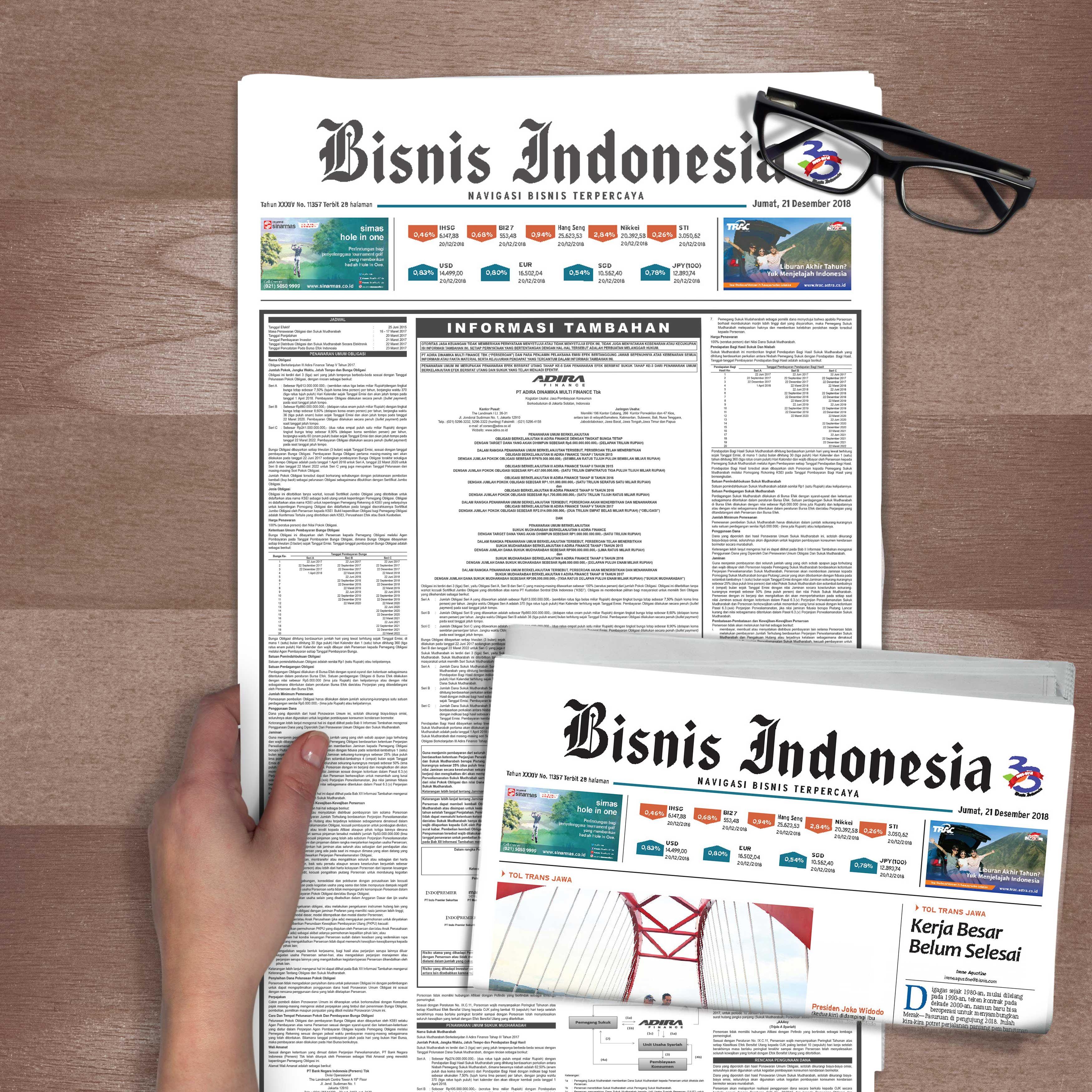 biro iklan prospektus ringkas dari Hanindo