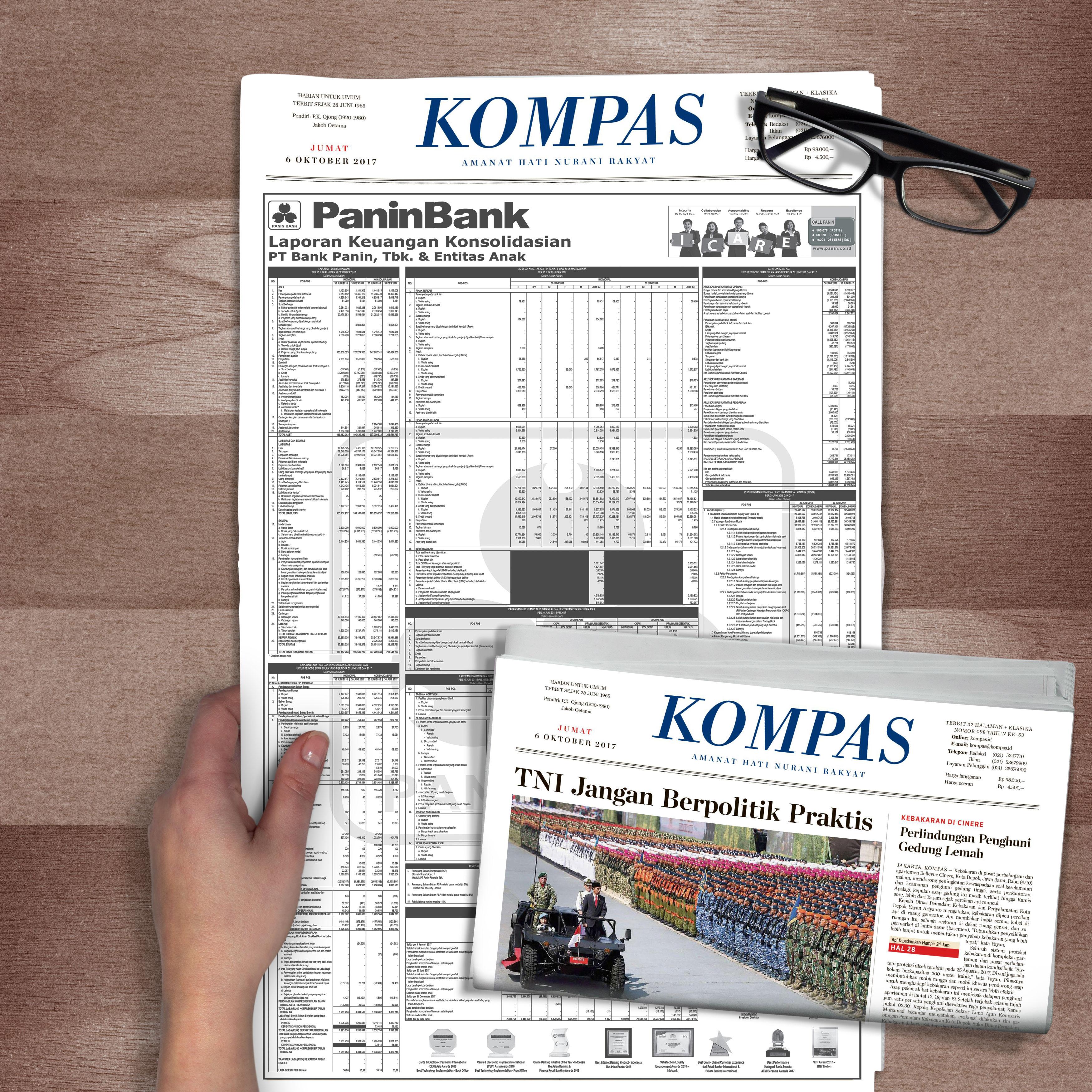 iklan laporan keuangan panin bank di koran