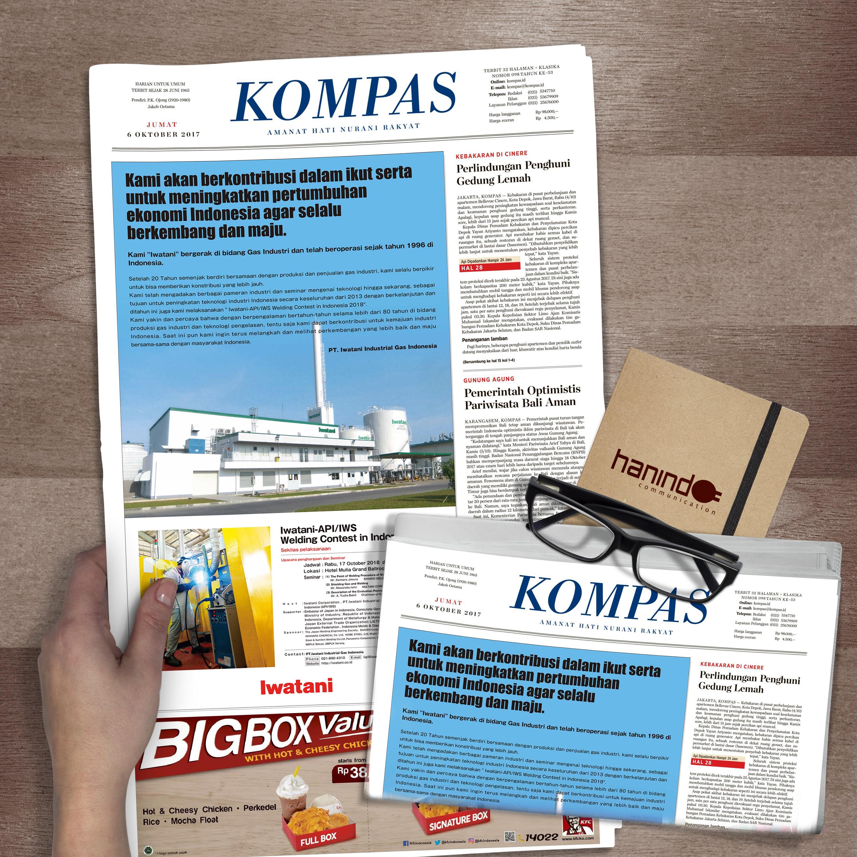 iklan advertorial untuk koran kompas iwatani