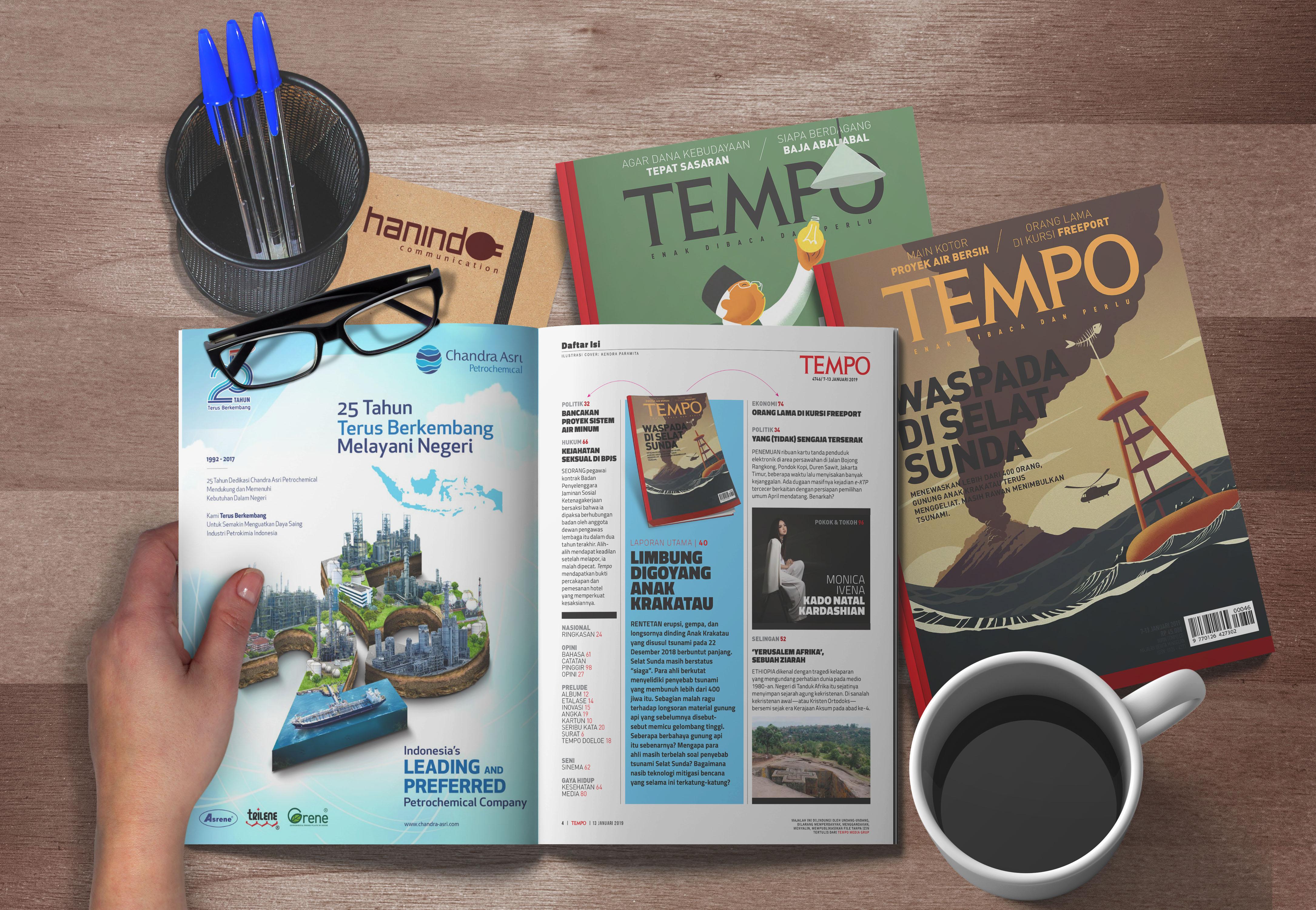 iklan display chandra asri untuk tabloid tempo
