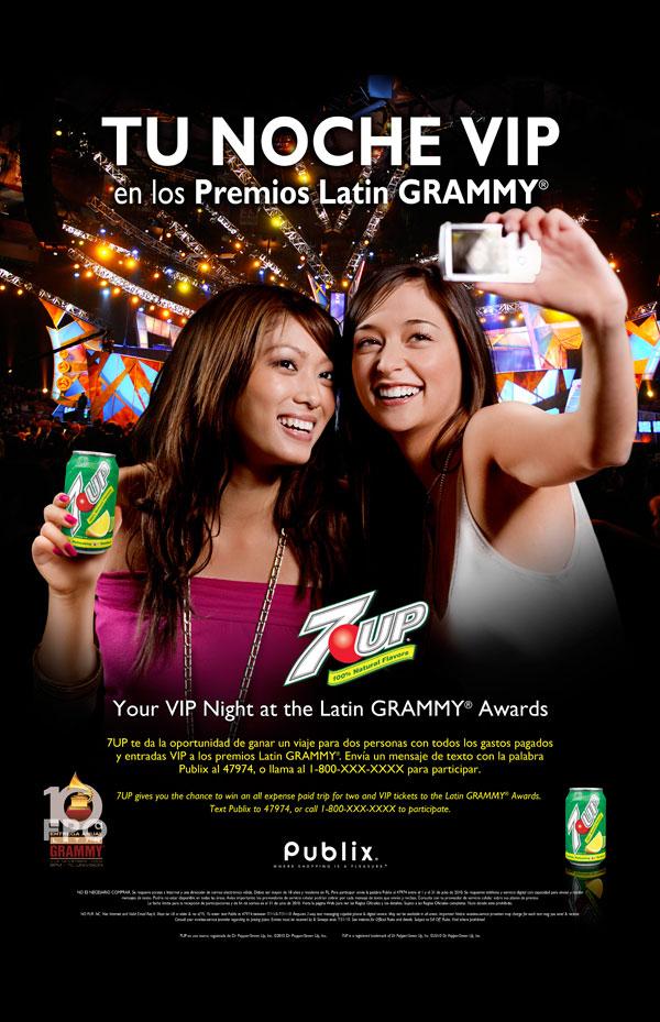 7UP Latin Grammy POS