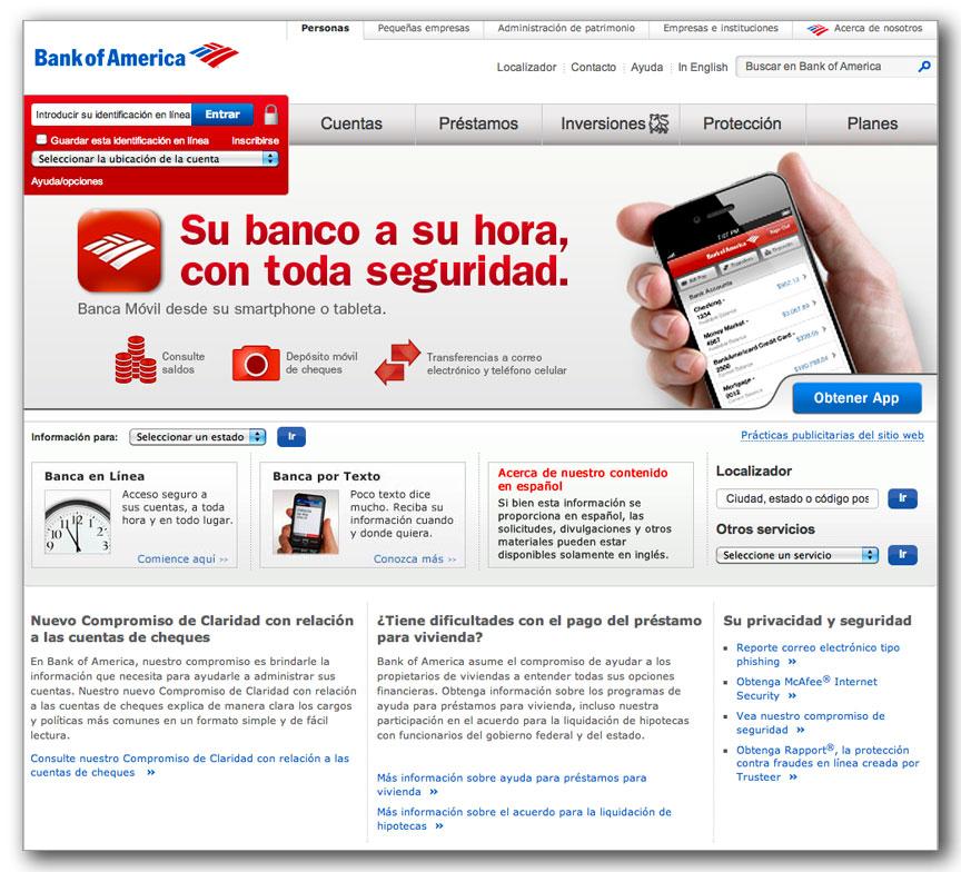 Bank of America - Dot Com - Spanish