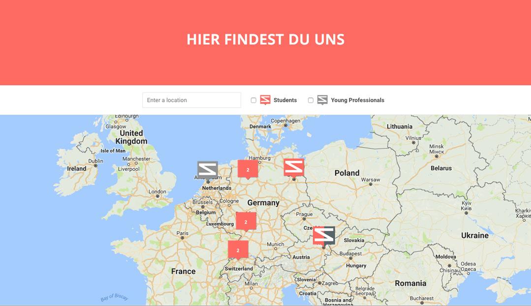 Individuelle Google Map, die alle Standorte zeigt