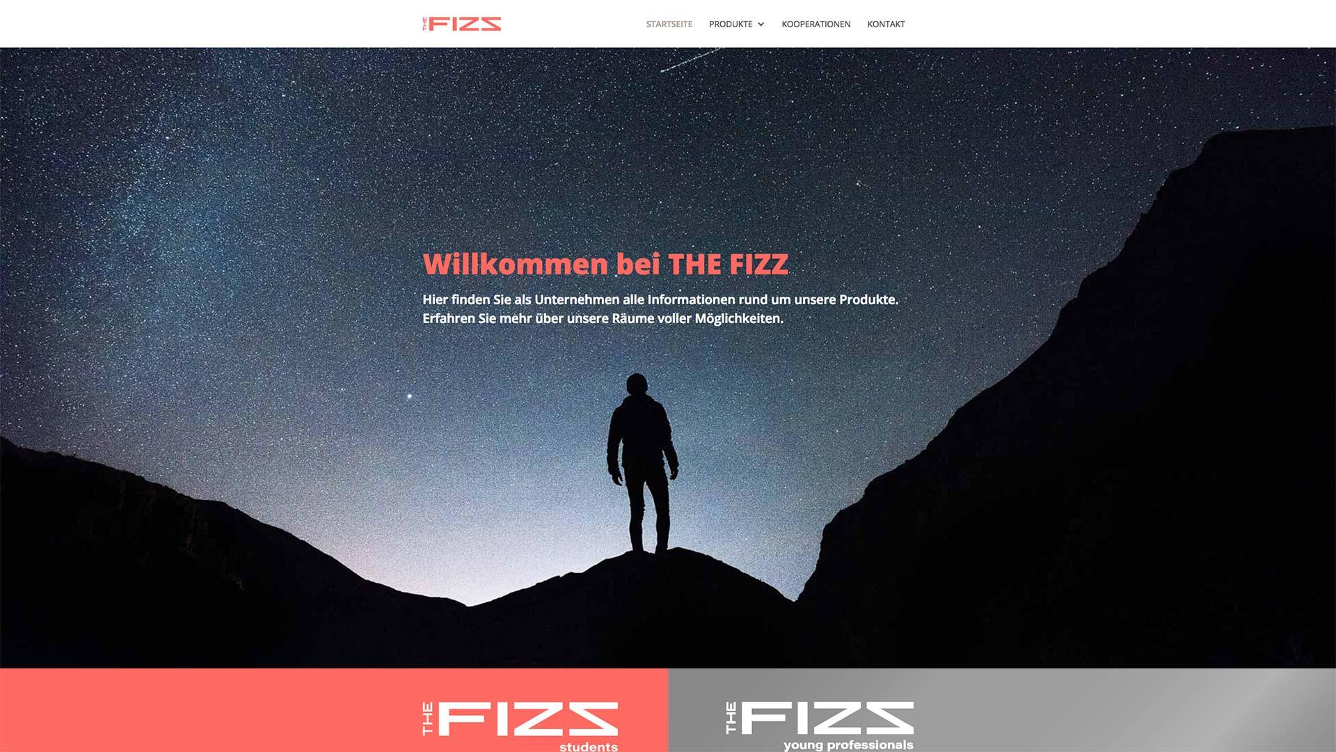 Eröffnungsbild der THE FIZZ business