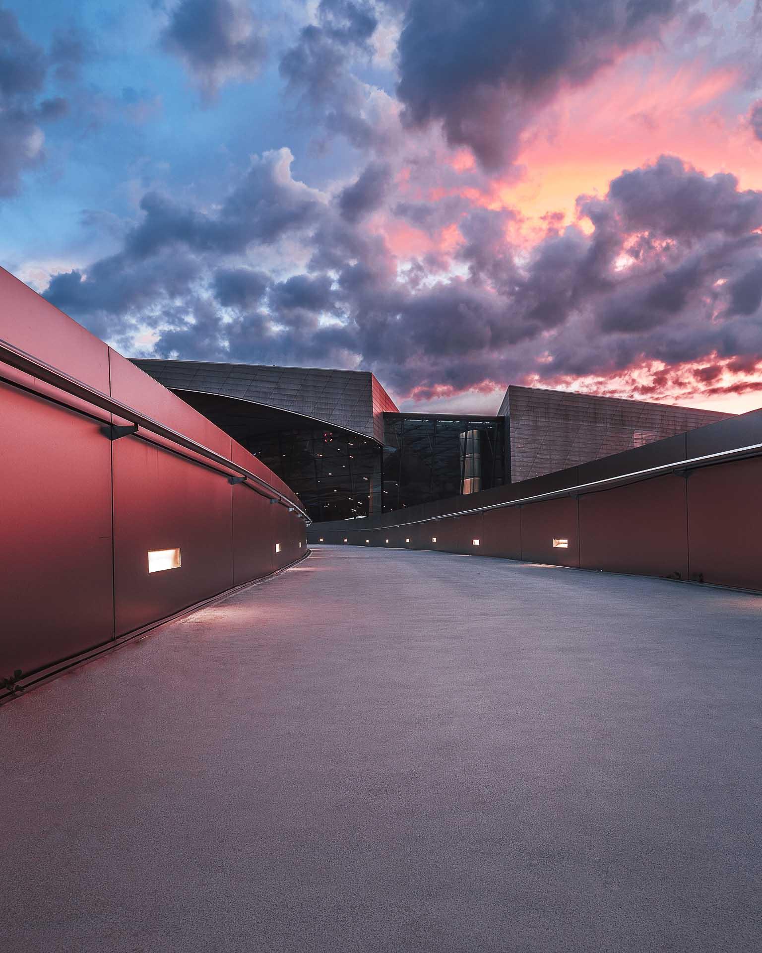 BMW Welt Sonnenuntergang