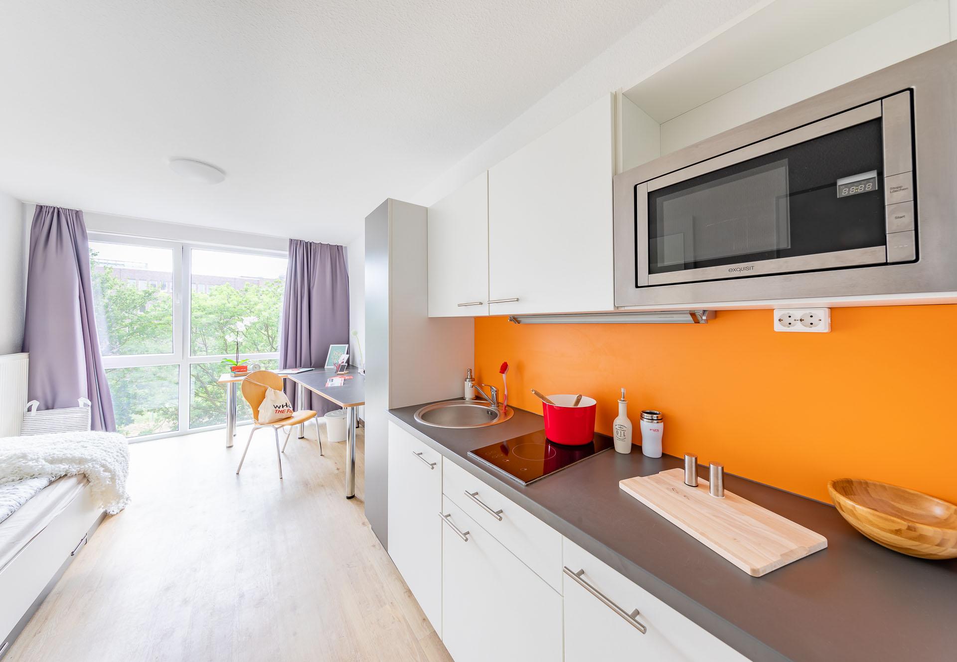 THE FIZZ Bremen Small Apartment - Kochbereich