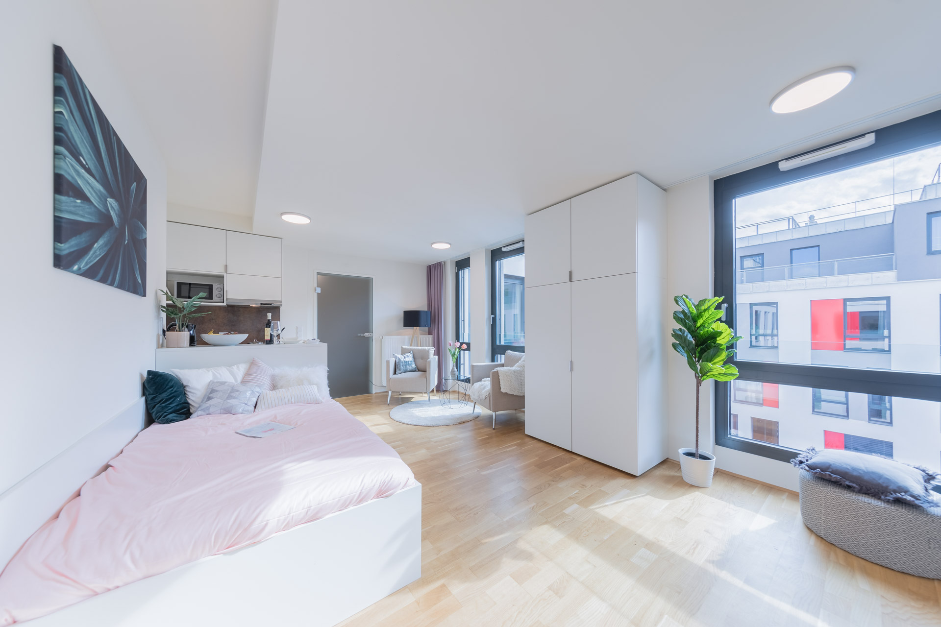 THE FIZZ Plus Wien X- Large Apartment - Schlafbereich