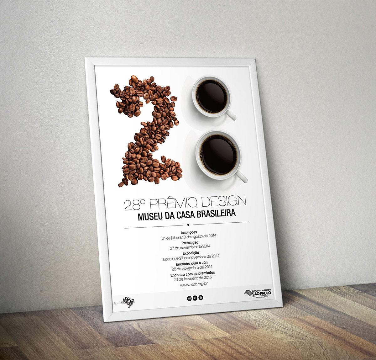 Cartaz para o prêmio do Museu da Casa Brasileira