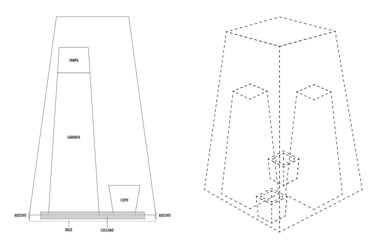Wireframe de embalagem para Azuma Kirin
