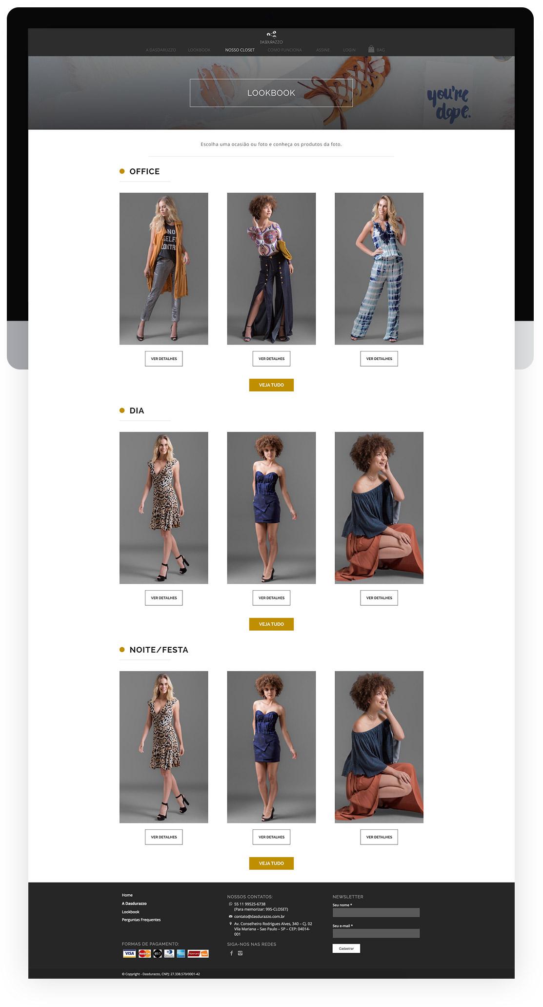 Lookbook do clube de roupas Dasdurazzo