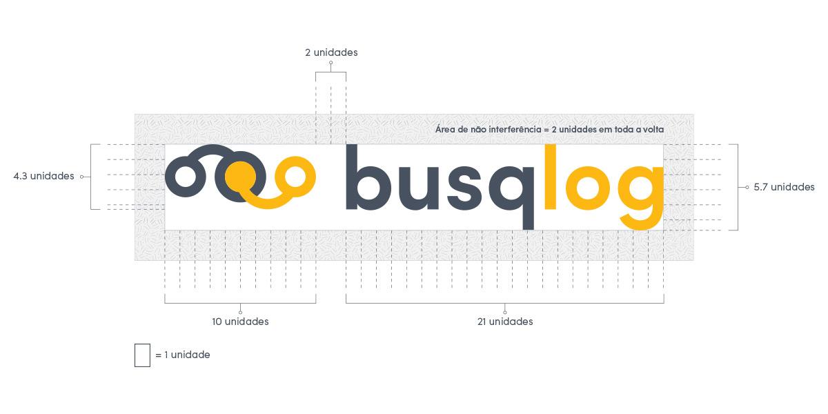 Construção do logotipo Busqlog