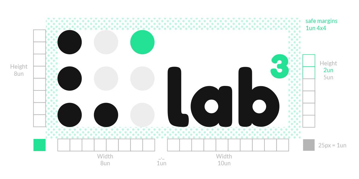 Construção logotipo Lab 3