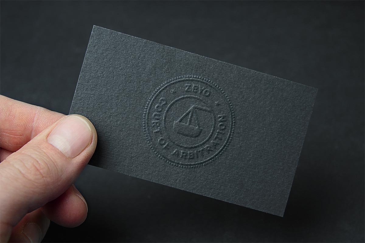 Zeyo startups business card design
