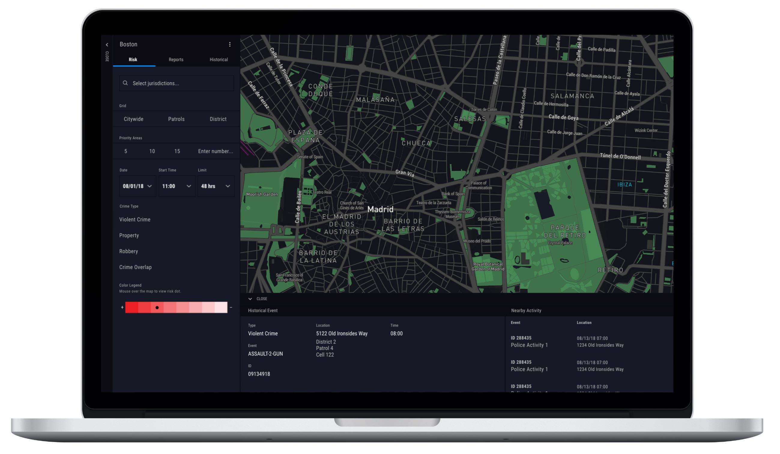 Crimescape startup product design
