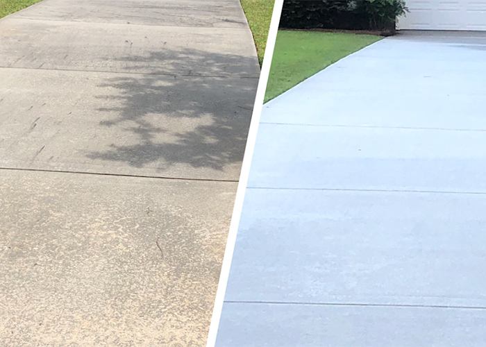 surface cleaning before and after in albany ga