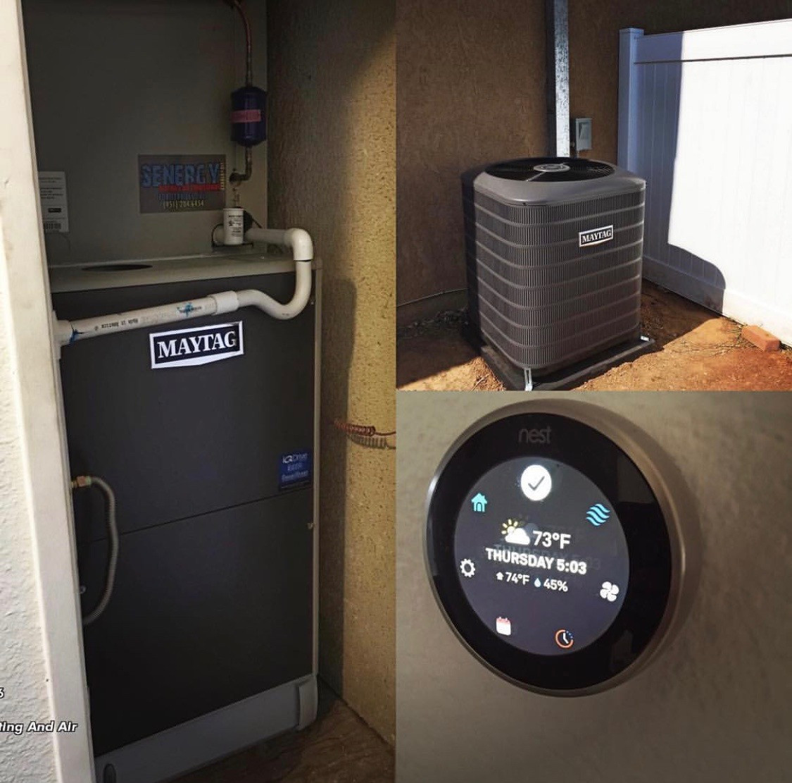 Heating maintenance by Senergy Heating and Air Conditioning