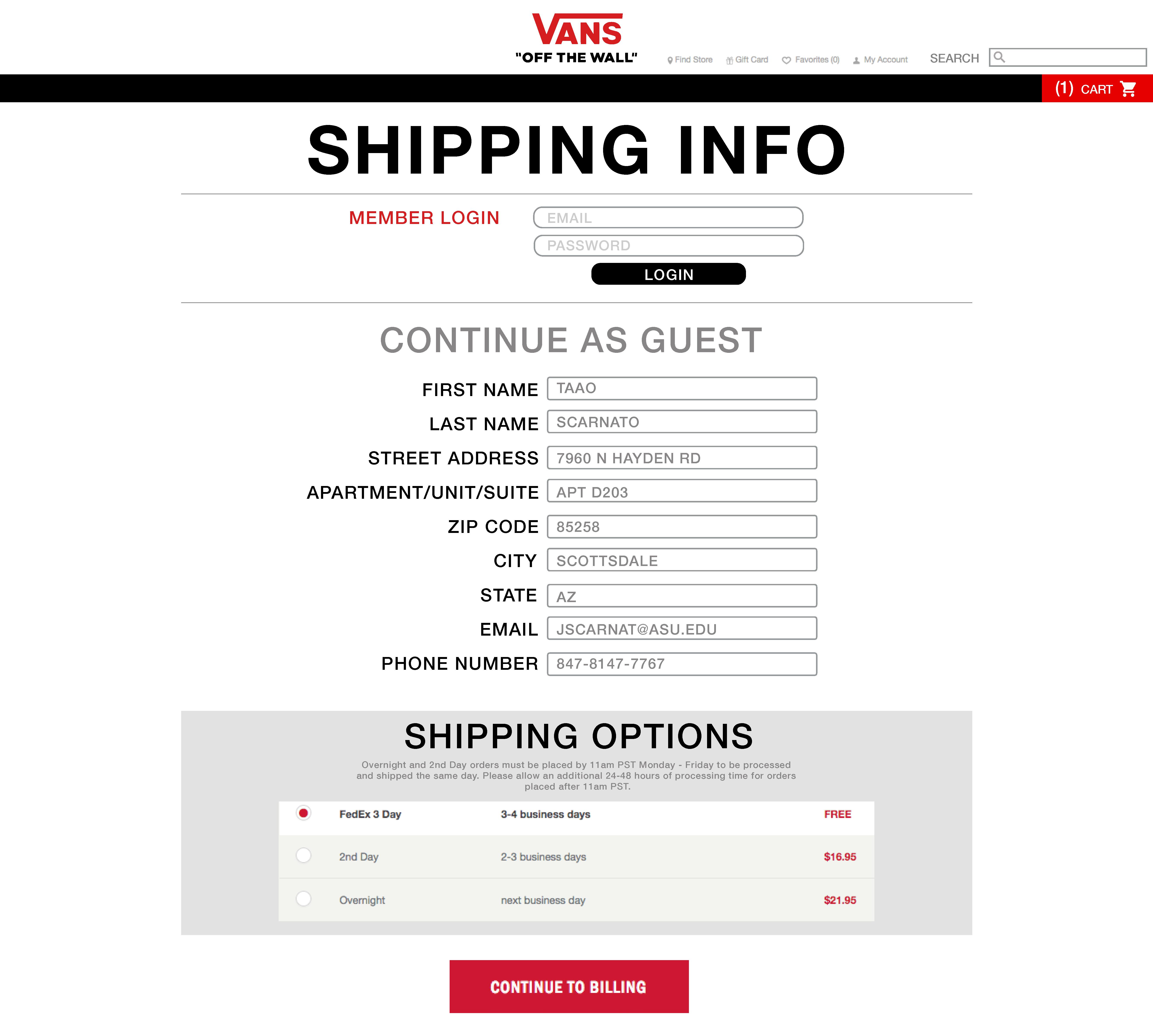vans newsletter code