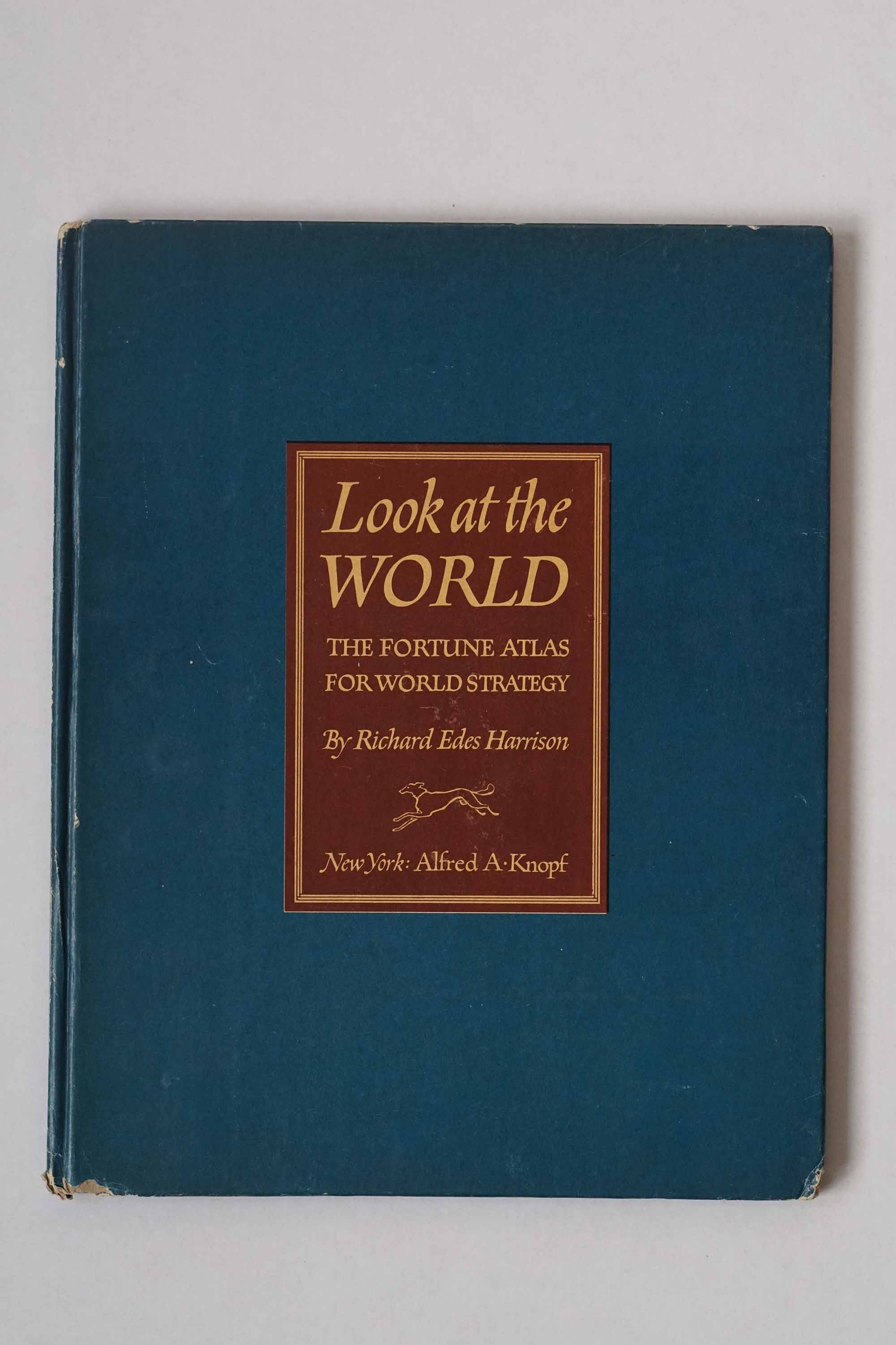 Look at the World - atlas by Richard Edes Harrison from 1944