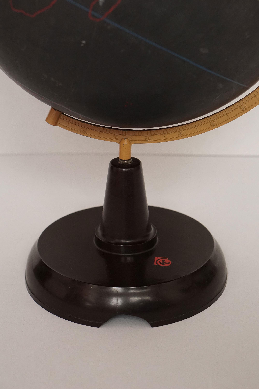 Rare black slate teaching globe