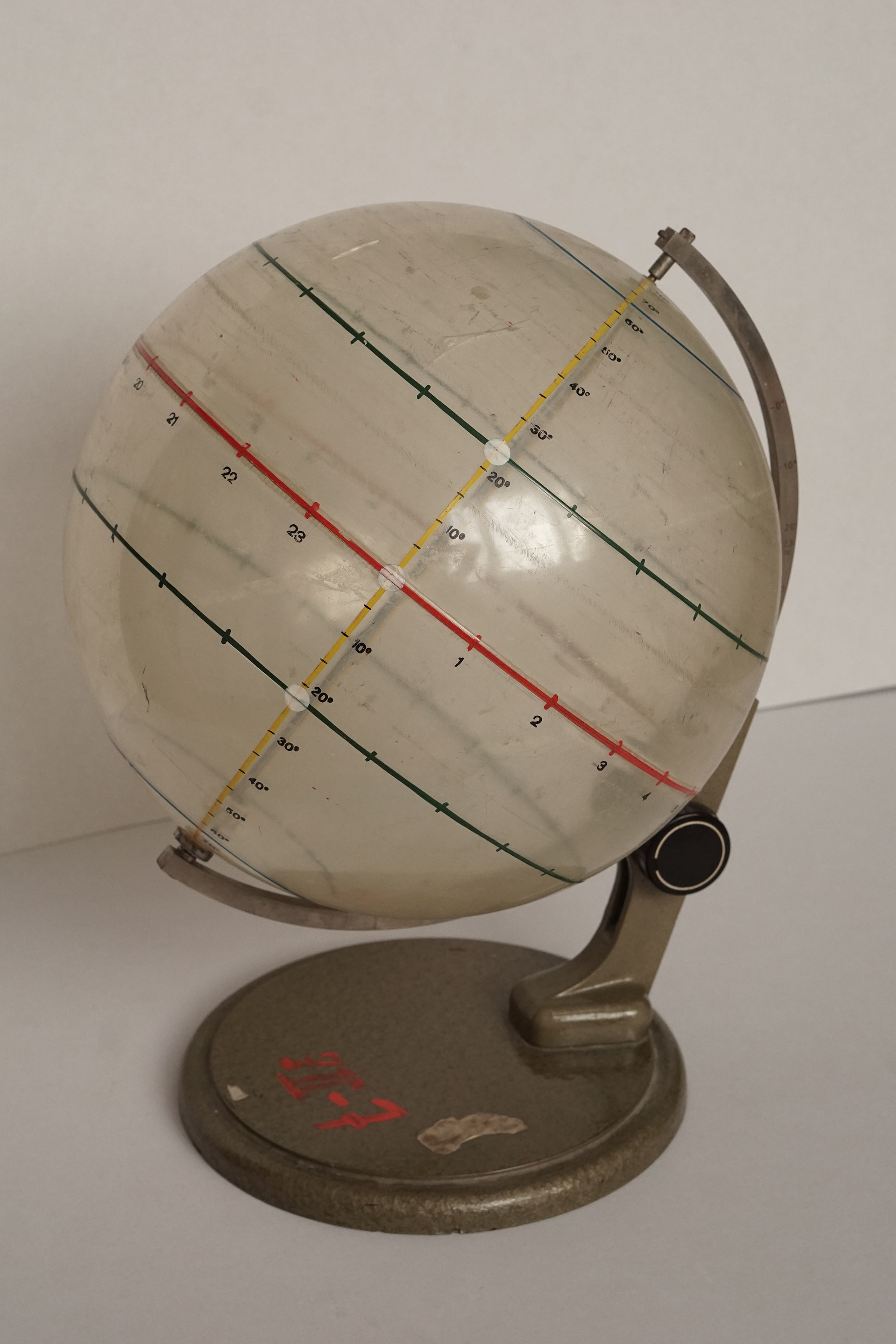Unique glass globe as scientific instrument