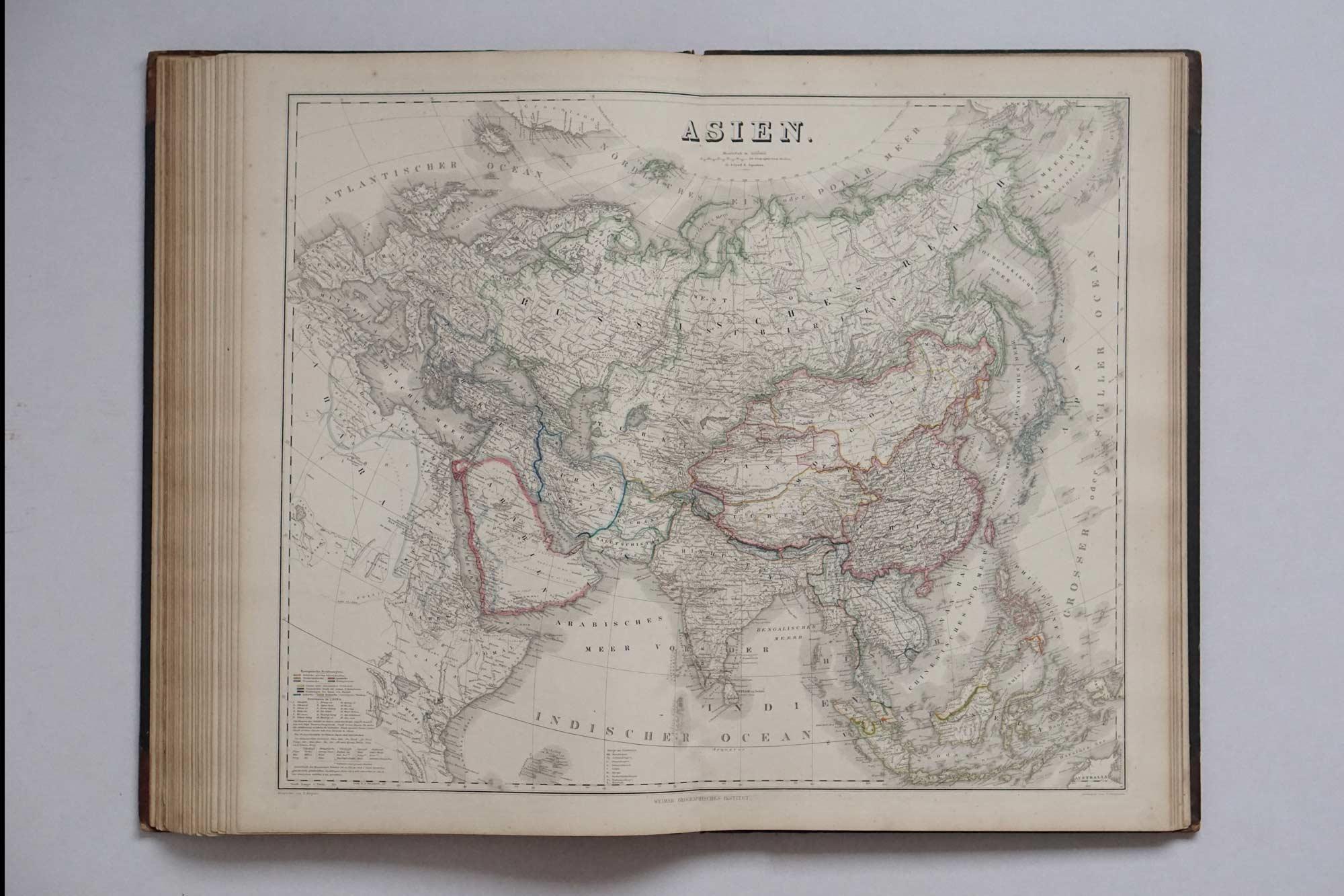 Grosser Hand-Atlas des Himmels und der Erde