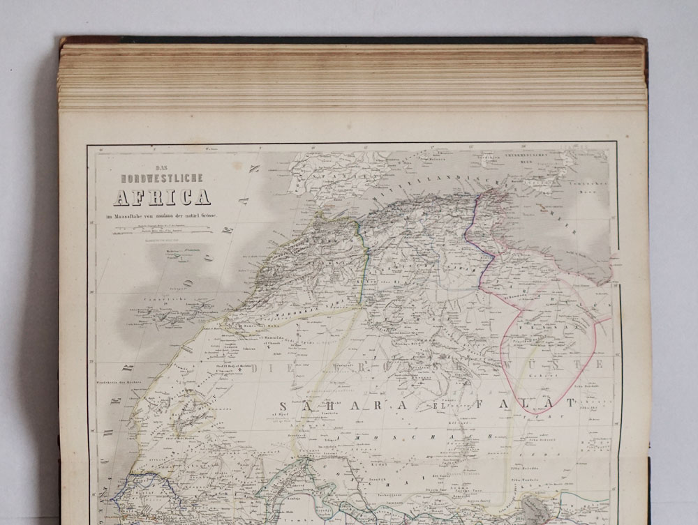 Large map of Africa from Kiepert!s Grosser Handatlas der Erde und des Himmels - 1872