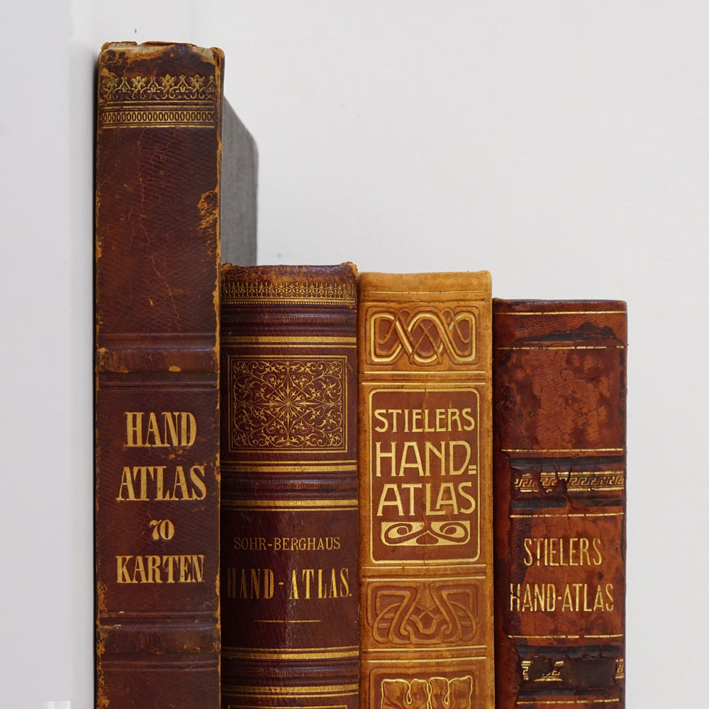 "Collection of ""Hand-Atlases"" - large antique german atlases"