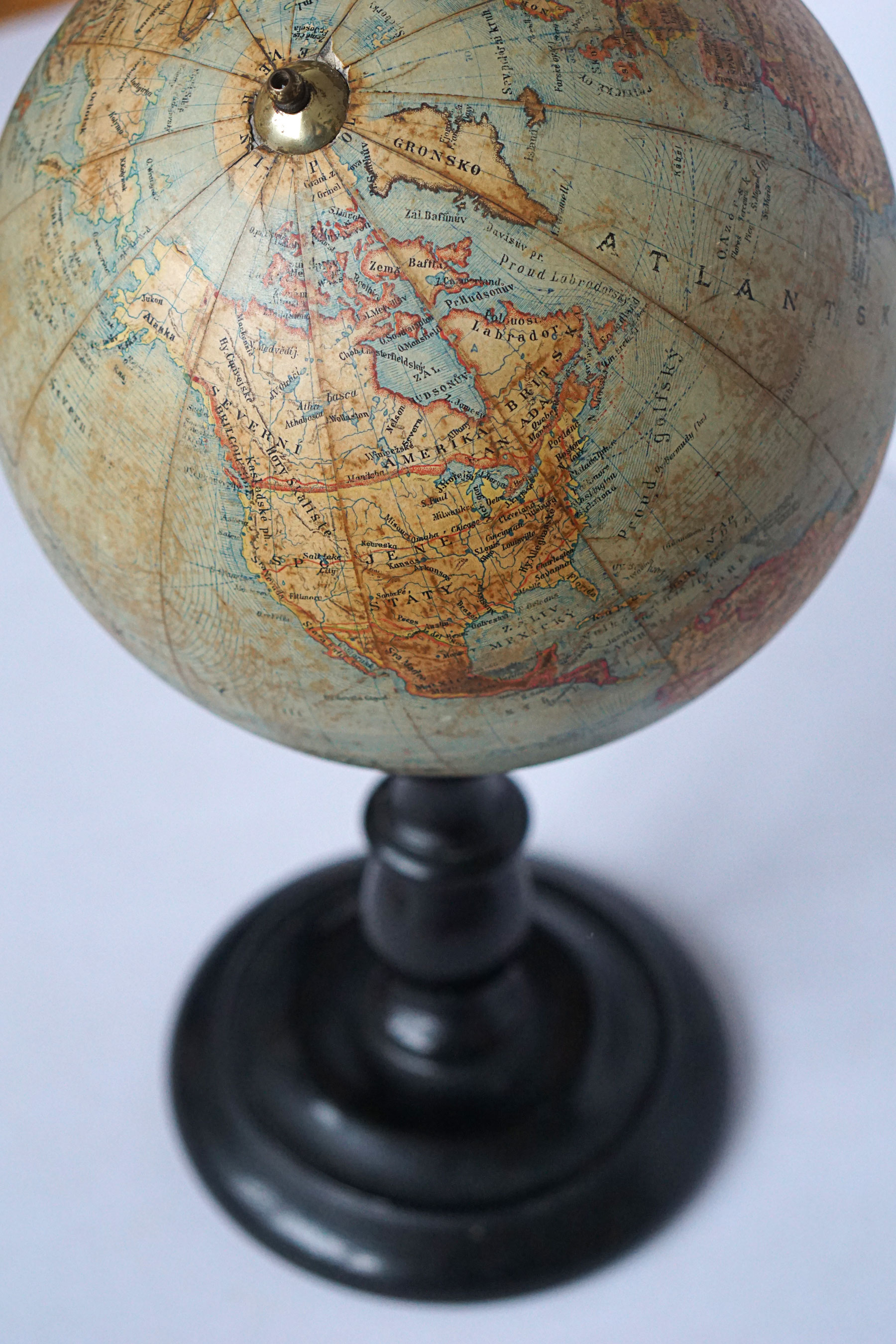 Early 20th century terrestrial globe by Felkl & Son
