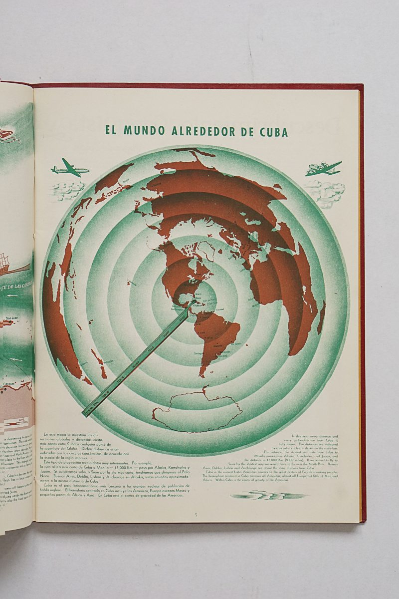 The world around Cuba from Atlas de Cuba by Erwin Raisz and Gerardo Canet - 1949
