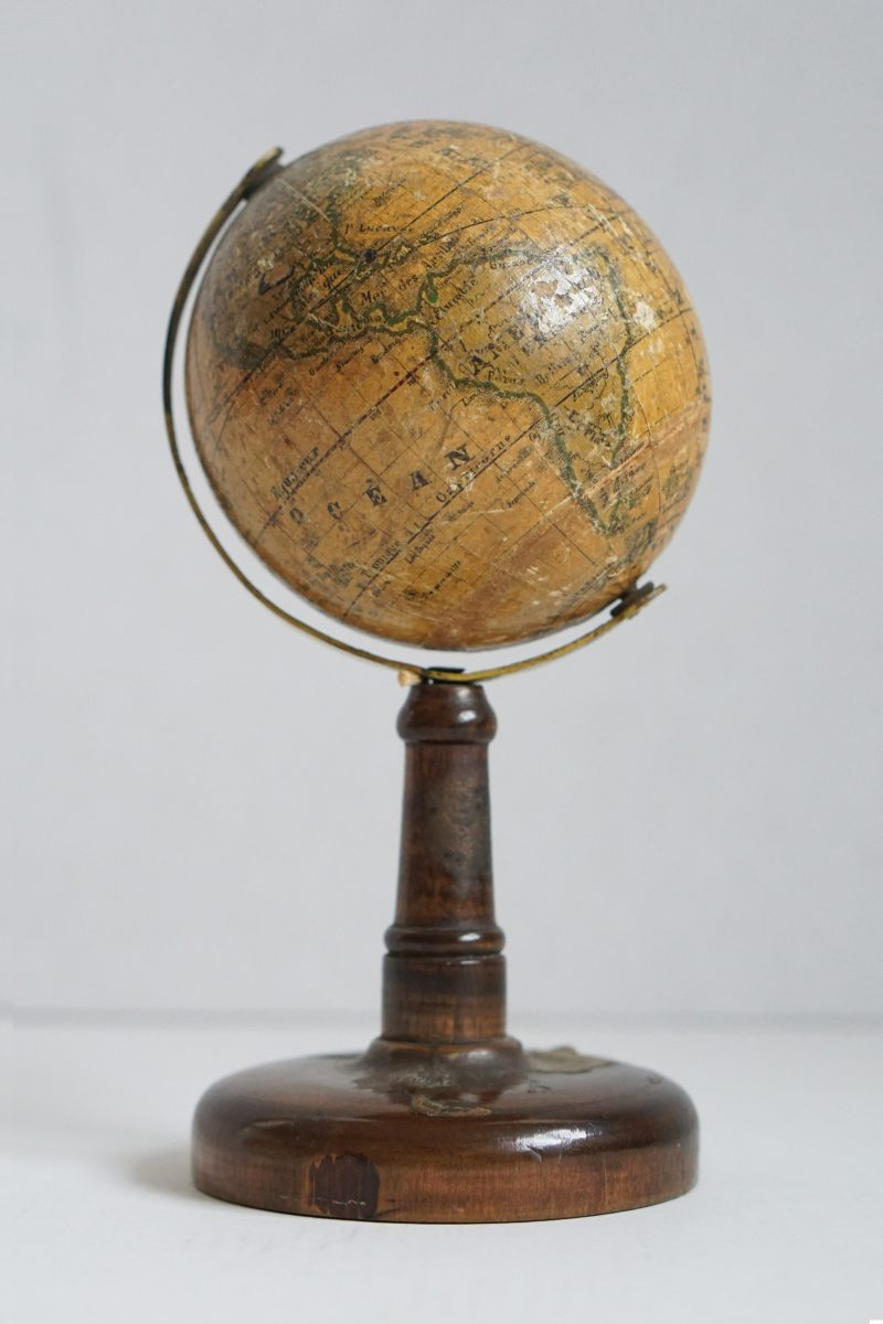Abel Klinger miniature globe on stand from circa 1850