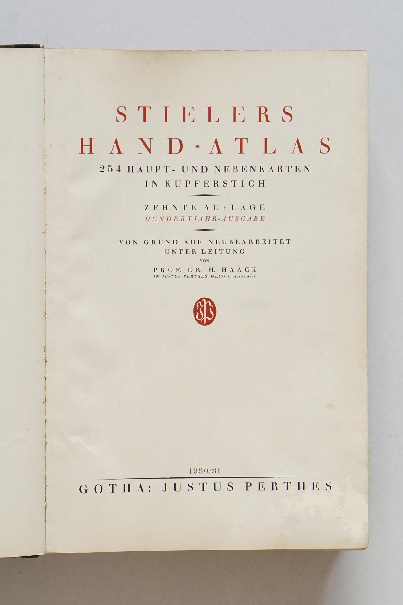 Stielers Handatlas, 10th edition