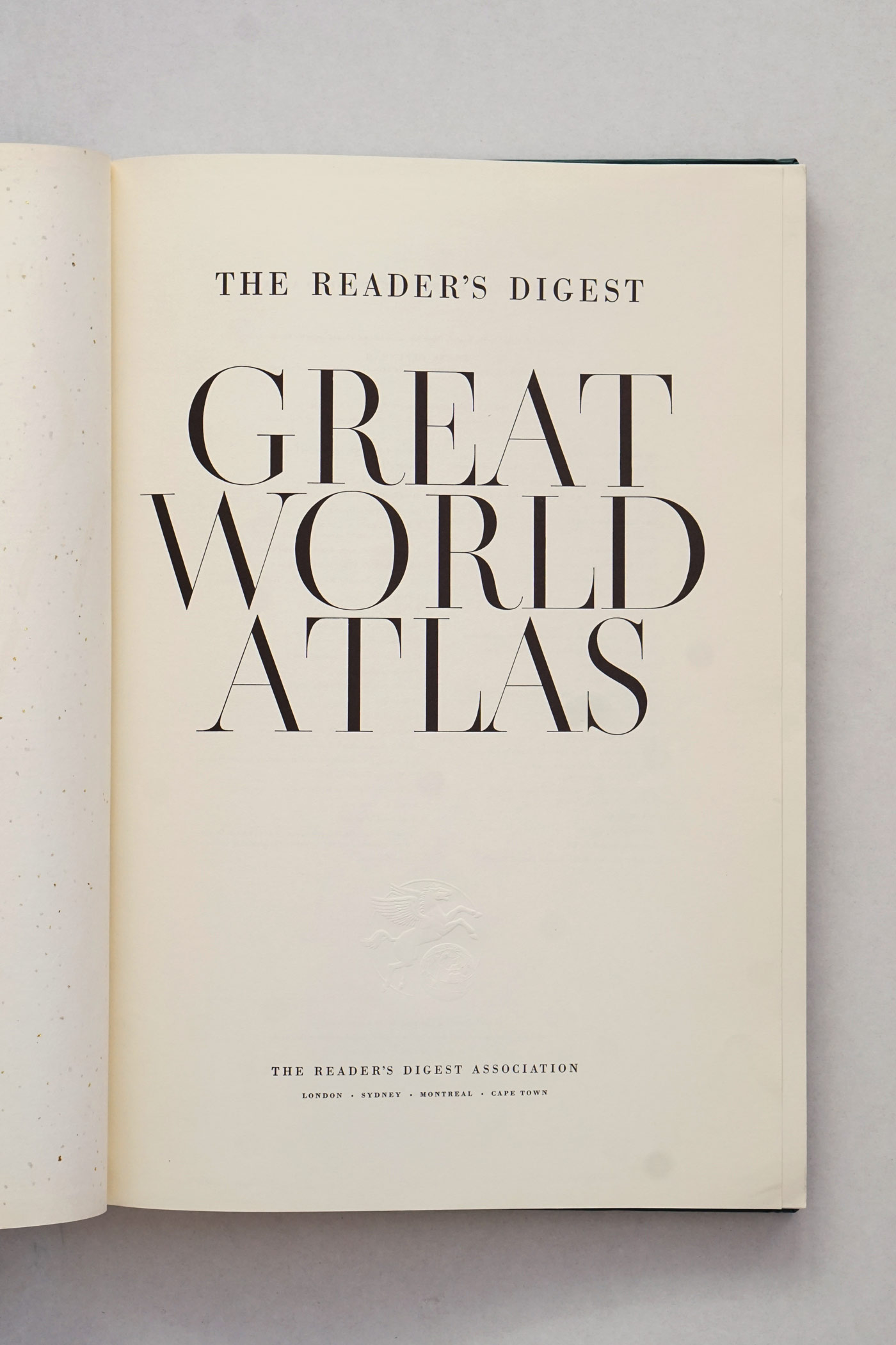 The Reader's Digest Great World Atlas