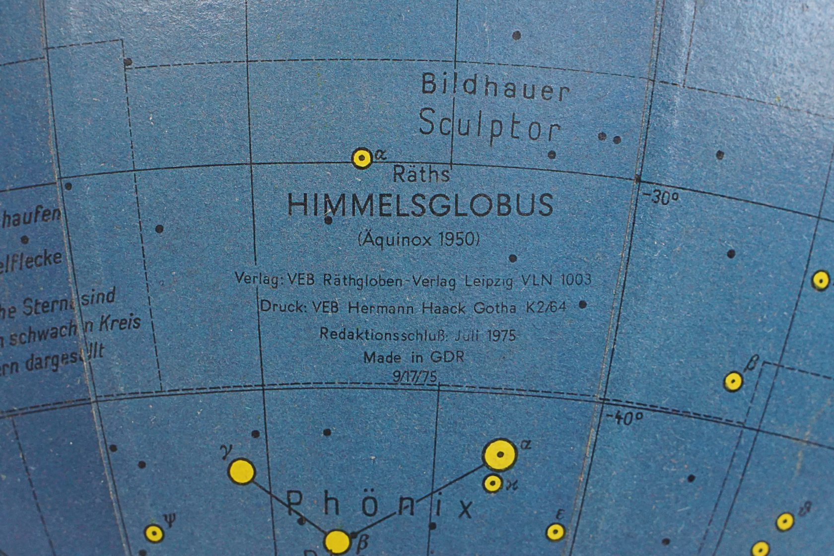 "Rare german celestial ""Himmelsglobus"" by Paul Rath"