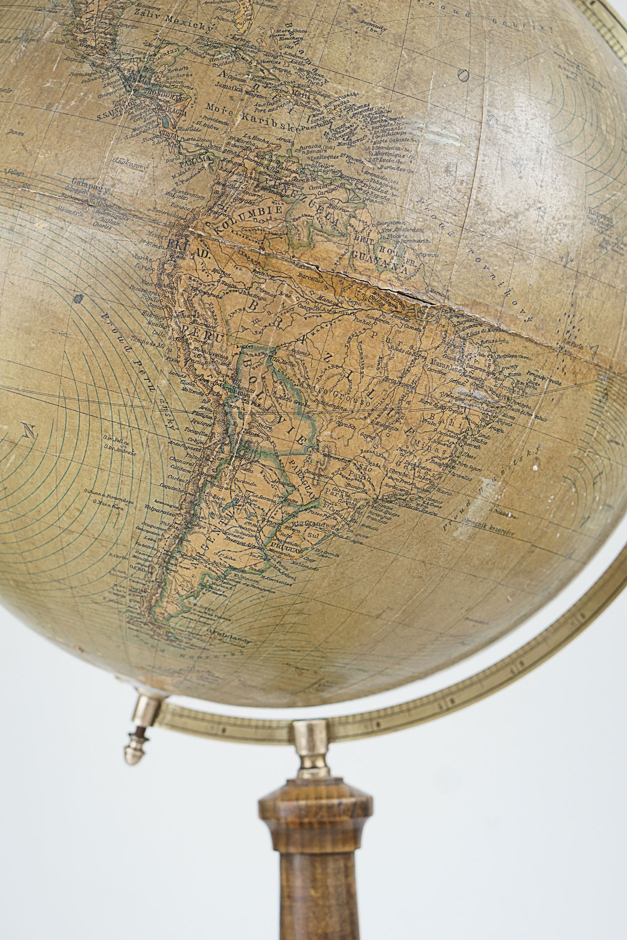 Rare Globe with New Political Division by Logia